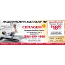 Gift card - Five 54-Minute Chiropractic Massage Session at Ceragem Healing Center in Buena Park or Irvine, California