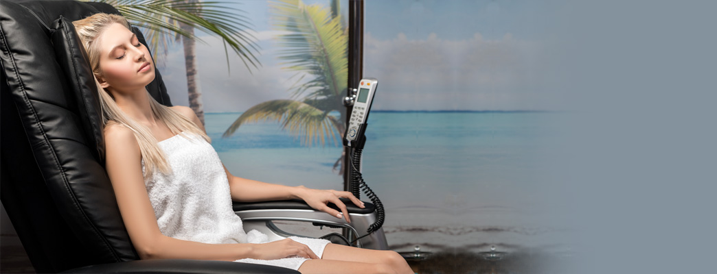 Girl On Massage Chair